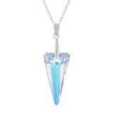 Swarovski Crystal Spike Necklace, Aurora Borealis