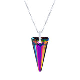 Vitrail Medium Sparkling Crystal Spike Necklace