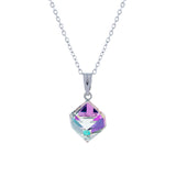 Swarovski Crystal Oblique Necklace in Vitrail Light