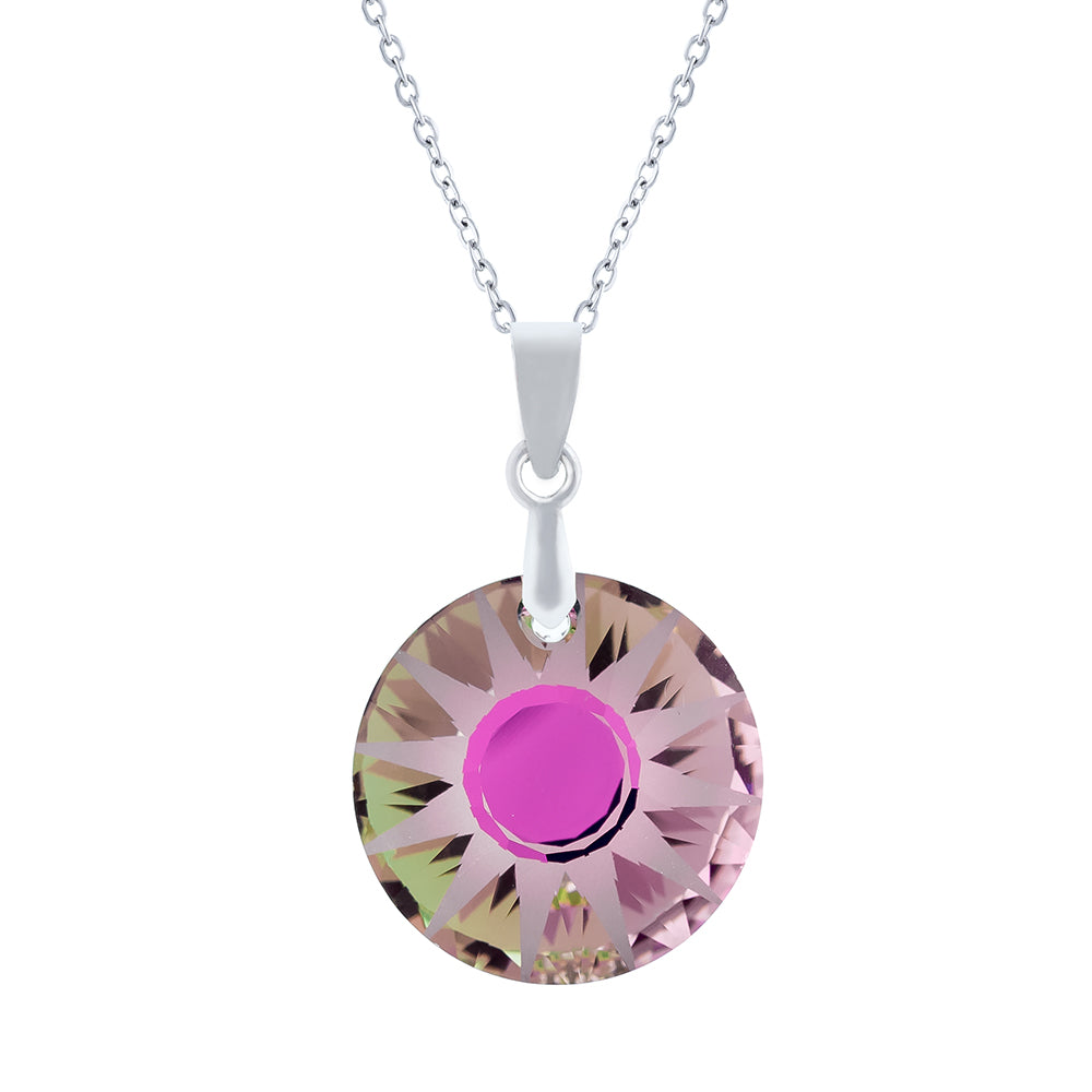 Sparkling Crystal Vitrail Light Sun Necklace