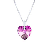 Swarovski Crystal Heart Necklace in Vitrail Light