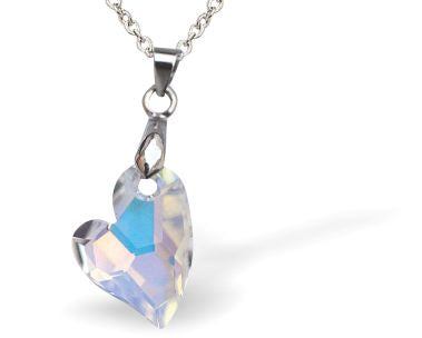"Swarovski Crystal Heart ""Devoted 2U"" AB, Large"