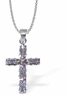 Swarovski Crystal Cross Necklace in Clear Crystal