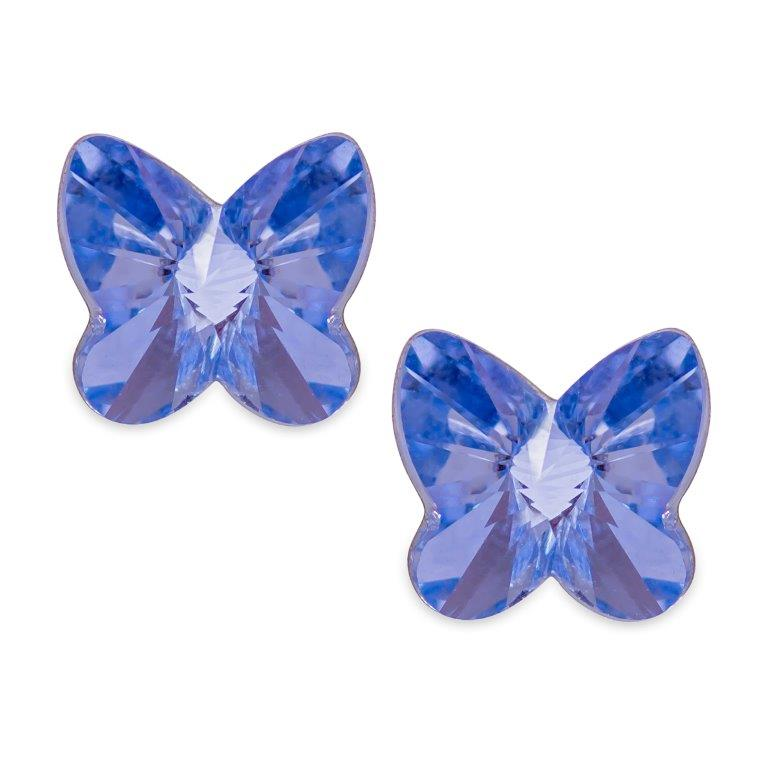 Swarovski Crystal Butterfly Studs Provence Lavender Earings
