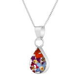 Real Flower Teardrop Mixed Bouquet Necklace, Small