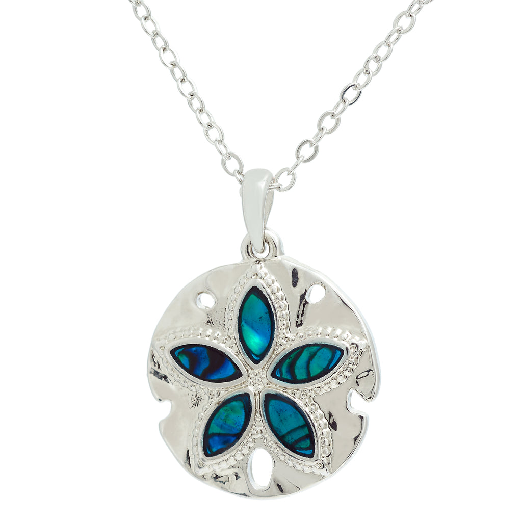 Framed Daisy Paua Shell Necklace
