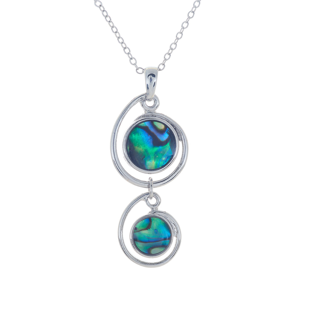 Paua Shell Double Globe Necklace