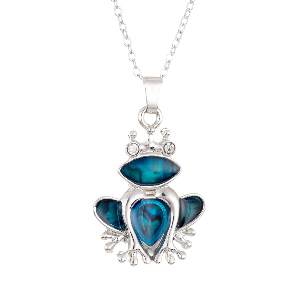 Paua Shell Frog Necklace