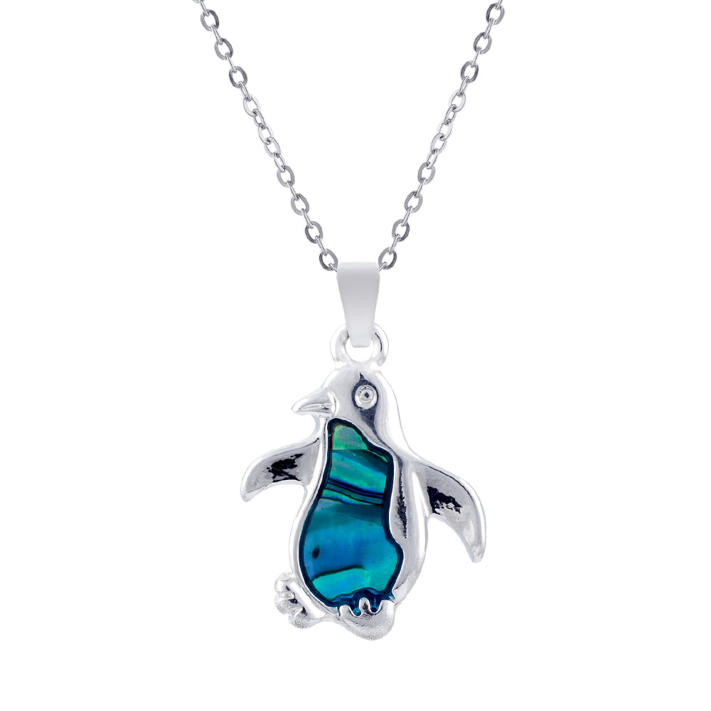 Paua Shell Penguin Necklace