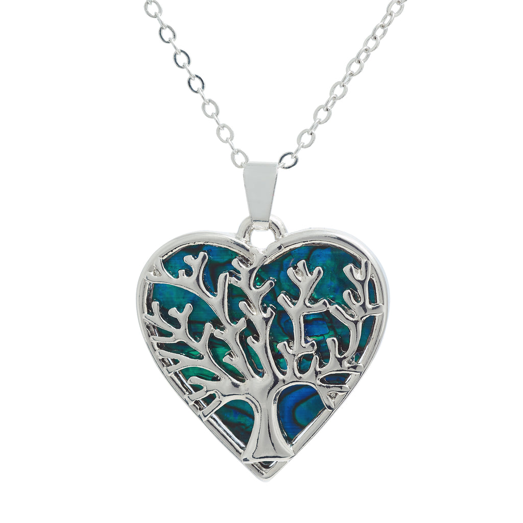 Paua Shell Tree of Life Wild Heart Necklace