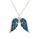 Paua Shell Angel Wing Necklace