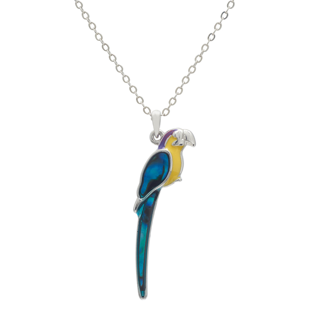 Paua Shell Parrot Necklace