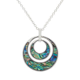 Paua Shell Circle within Circle Necklace
