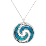 Paua Shell Whirl Necklace