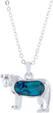 Paua Shell Lioness Necklace, Rhodium Plated