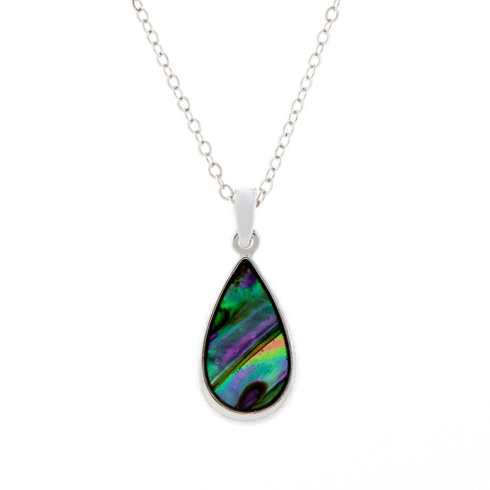 Paua Shell Droplet Necklace