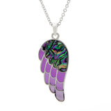 Paua Shell Angel Wing Necklace, Large