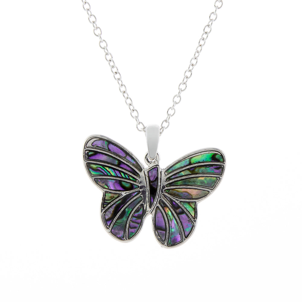 Paua Shell Fancy Butterfly Necklace