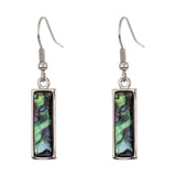 Paua Shell Baguette Drop Earrings