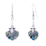 Paua Shell Sea Shell Drop Earrings