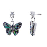 Paua Shell Butterfly Stud/Drop Earrings