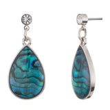 Paua Shell Lacrima Stud/Drop Earrings