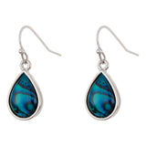Paua Shell Raindrop Drop Earrings