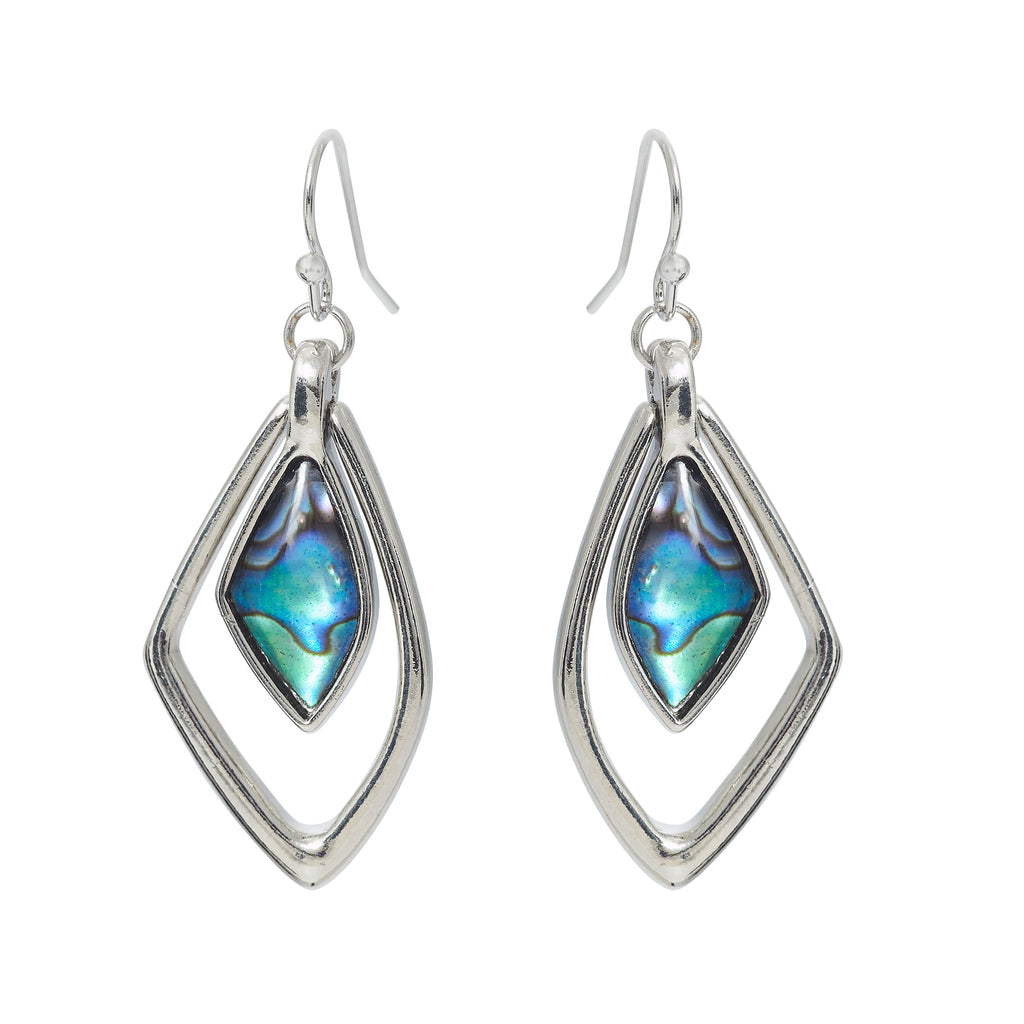 Paua Shell Geo Drops Drop Earrings