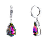 Crystal Vitrail Medium Crystal Encrusted Peardrop Drop Earrings