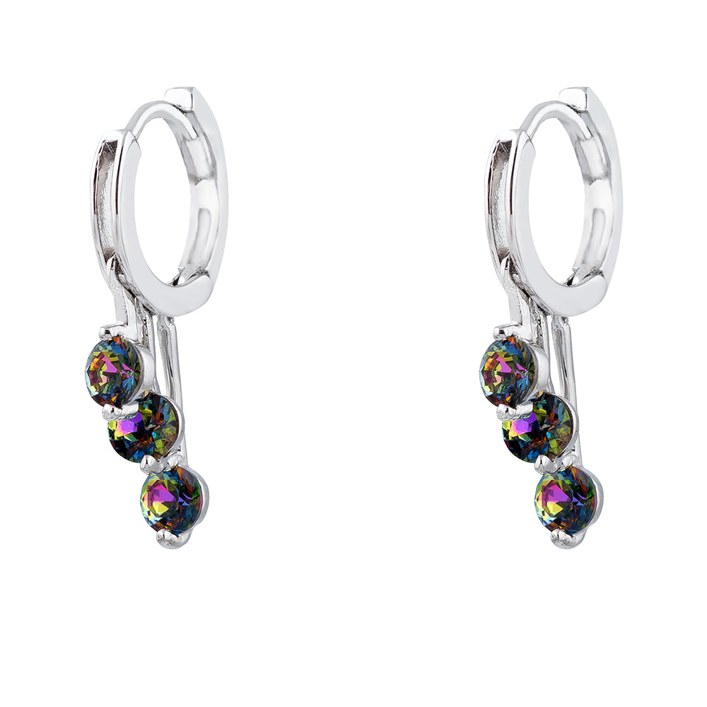 Crystal Vitrail Medium Drop Beads Drop Earrings