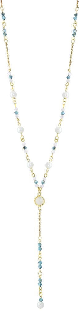 Long Mixed Austrian Crystal Beaded Necklace, 70cm drop