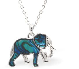 Paua Shell Elephant Necklace