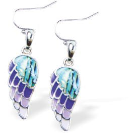 Paua Shell Angel Wing Drop Earrings