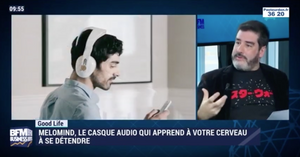 BFM Business - test de melomind, le casque anti-stress