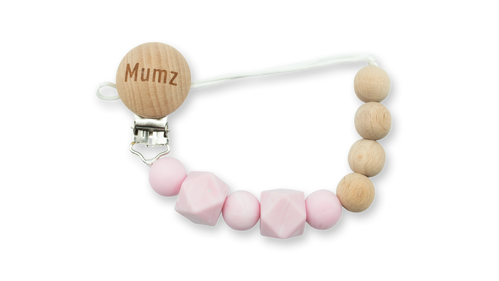 Silicone & Wooden Pacifier Clips