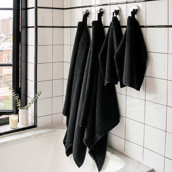 Seriously Black Mini Classic Hand Towel Set