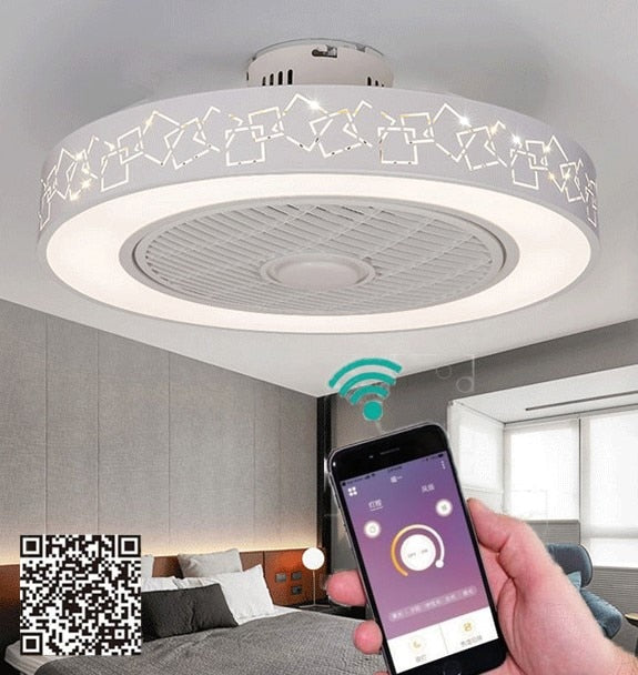 50cm Led Smart Remote Control Ceiling Fan With Light Suppot Mobile Pho Zephyr Memory