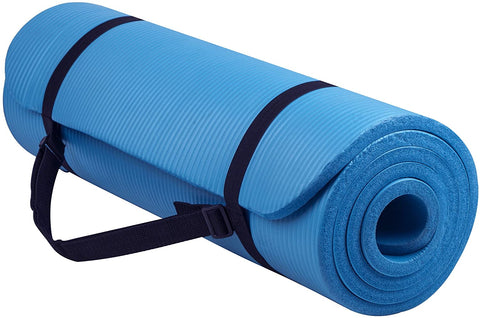Yoga Mat 180cmx60cm Great for Home Workout, Pilates, Physio, and Camping 10mm Thick