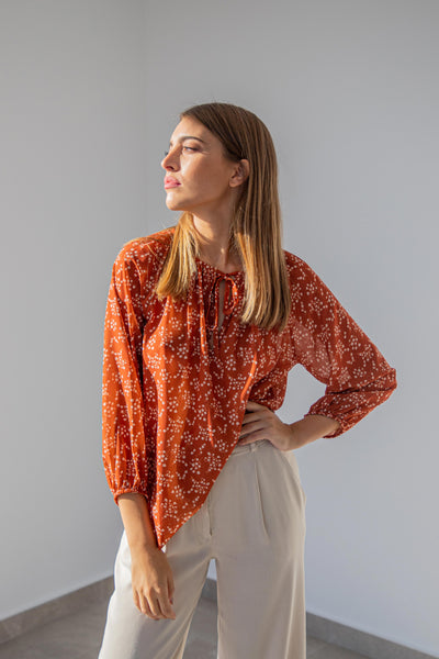 Carrie Printed Blouse
