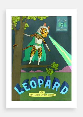 Big Five Superheroes, Leopard