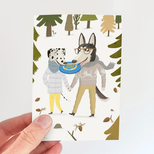 Love Dogs Card - Frisbee