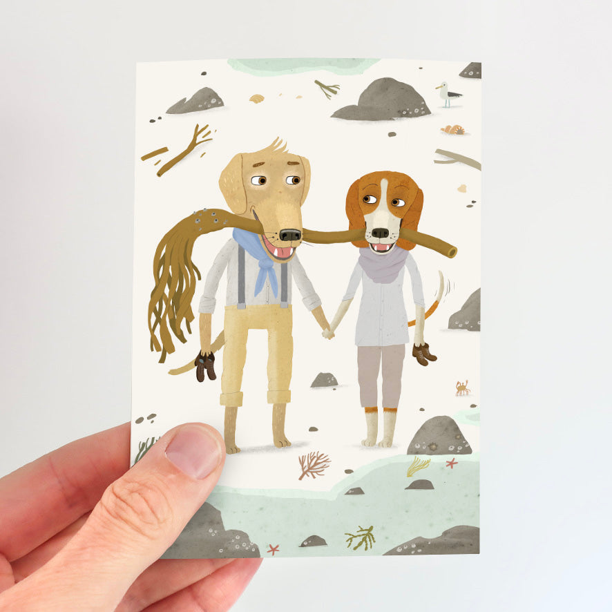 Love Dogs Card - Kelp