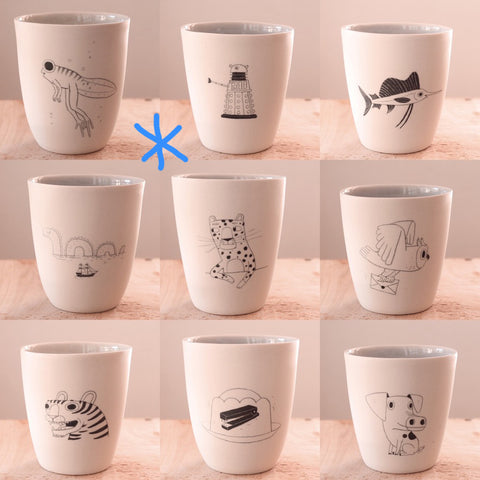 Hand Illustrated Cup