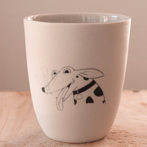 Happy Dog - Hand Illustrated Cup