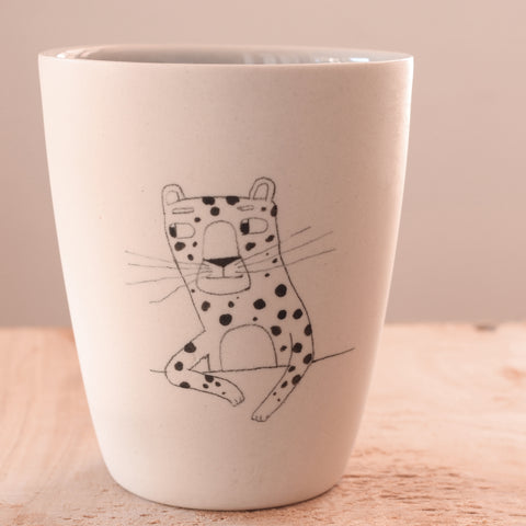 Leopard - Hand Illustrated Cup
