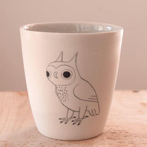 Owl - Hand Illustrated Cup