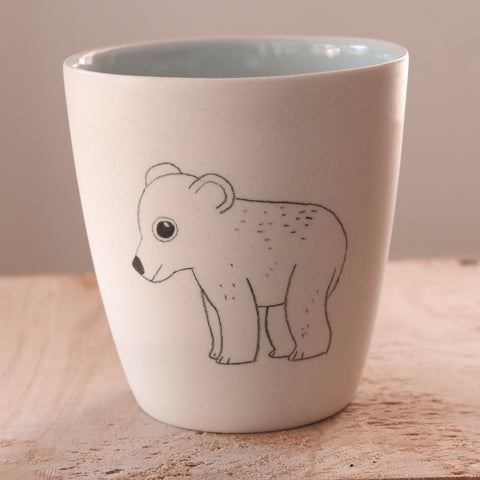 Polar bear cub - Hand Illustrated Cup