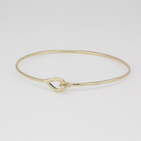 Gold Mini Hook Cuff Bracelet- 14k yellow gold
