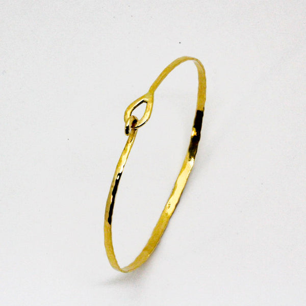 Yellow Gold Mini Hook Bracelet- 18k