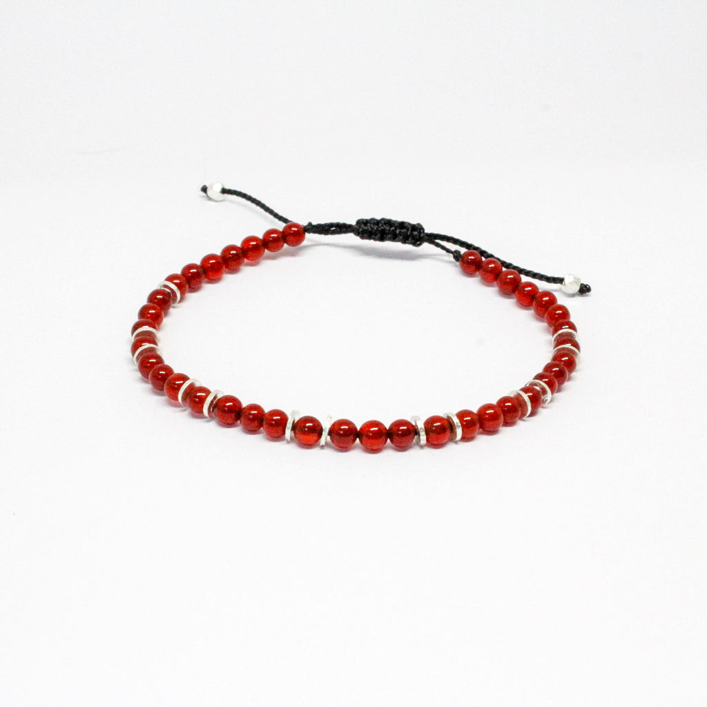 Carnelian Gemstone Stacker Bracelet